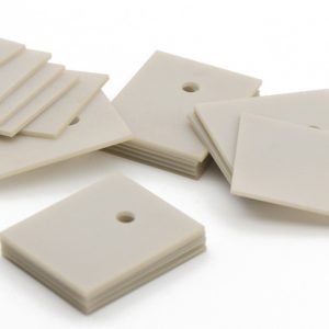 Aluminum NItride (AlN) substrates laser machined and singled out